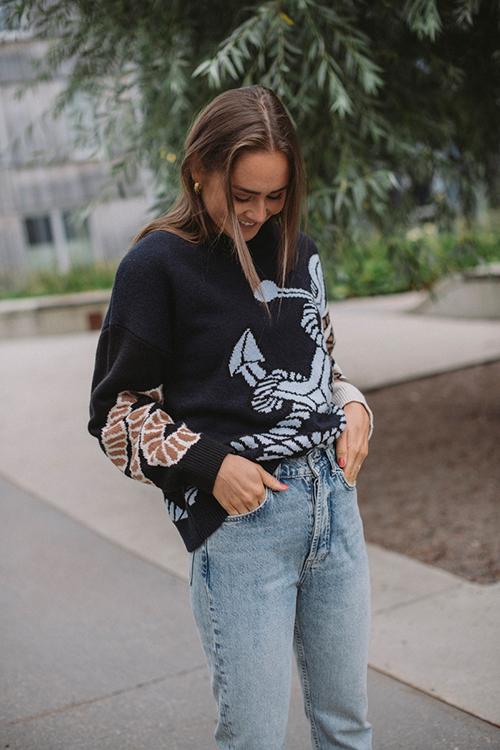 Munthe Talbert Sweater Indigo genser