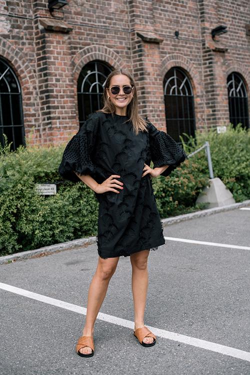 Munthe Thunder Dress Black Kjole