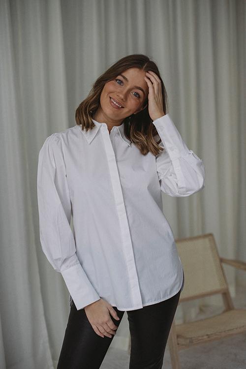 NORR Kirsten Shirt White skjorte