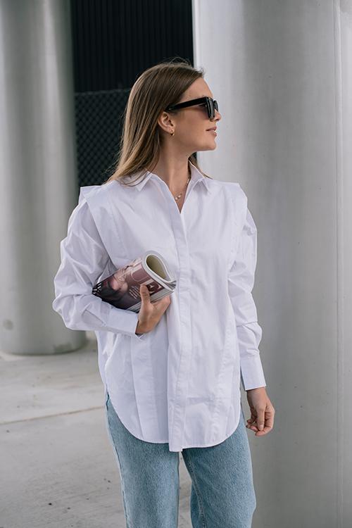 One&Other Ebu Shirt White skjorte