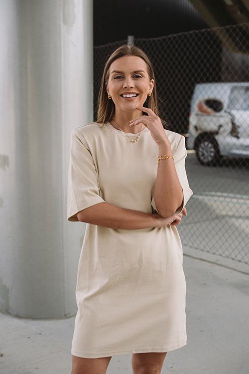 One&Other Jolie Dress Eggshell kjole