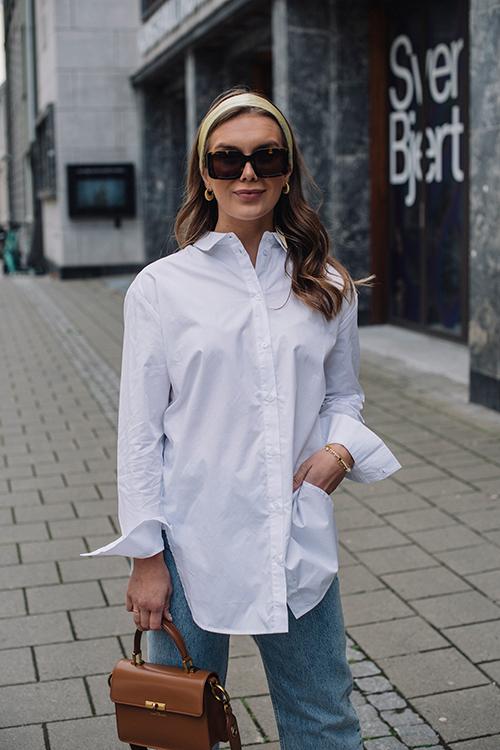 One&other Mila Shirt White skjorte