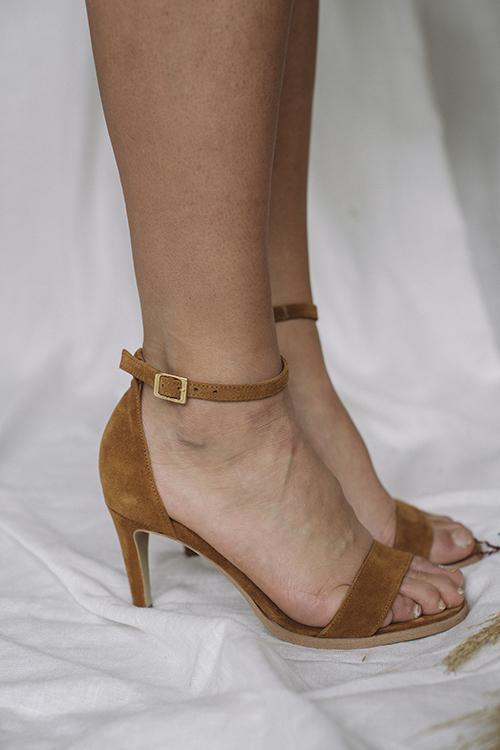 Pavement Dream Tan Suede sandaler sko
