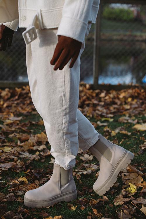 Pavement Viola Nubuck Boots Nude støvletter