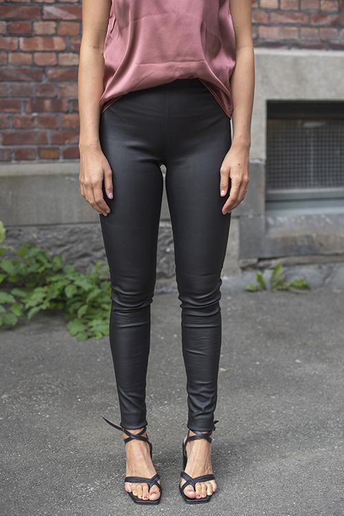 Farah Leather Pant Black