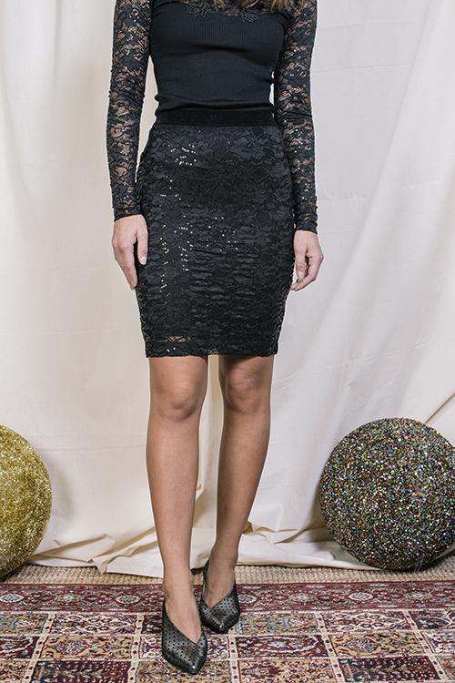 Rosemunde Lace Skirt Black skjørt