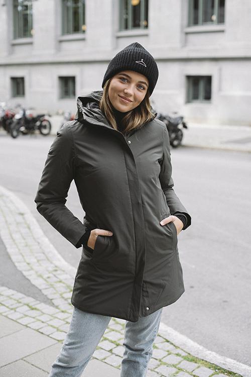 Scandinavian Edition Coat Dark Olive regnjakke teknisk jakke