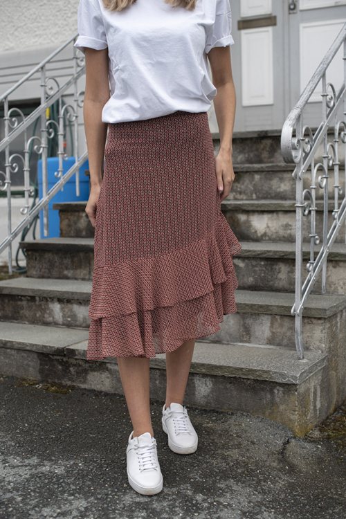 Second Female Leen Skirt Valiant Poppy skjørt