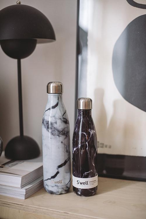 S´WELL White Marble 750ml drikkeflaske