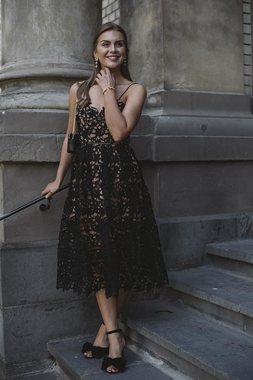 Self-Portrait Black Azaelea Black kjole