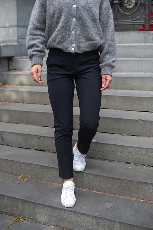 Fiveunits Kylie Crop Navy Modest Pinstripe dressbukse