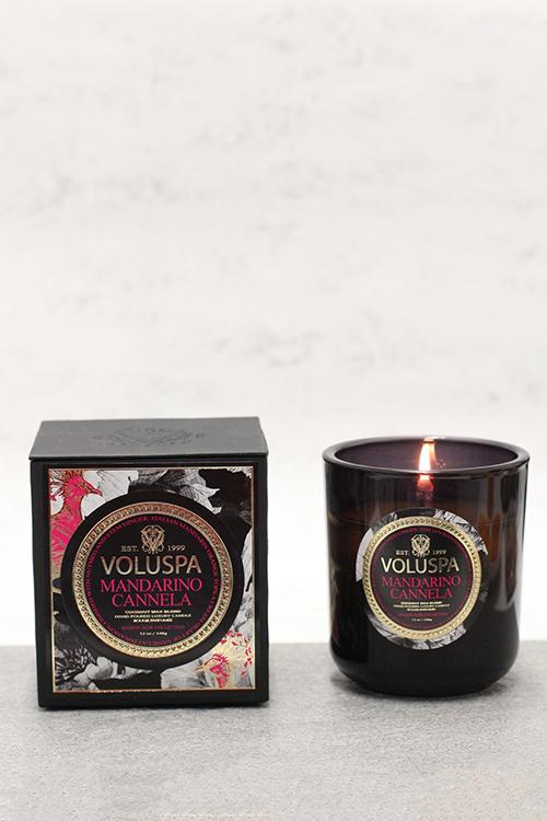 Voluspa Mandarino Cannela, Boxed Candle