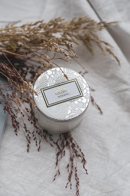 Voluspa Mokara Small Glass Jar 25t duftlys