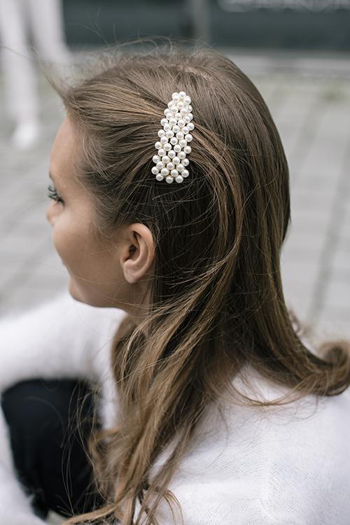full pearly hairclip zuzanna g silver